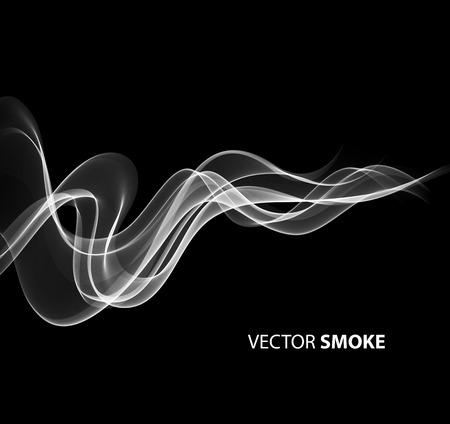Ilustración de Vector illustration realistic smoke on black background - Imagen libre de derechos