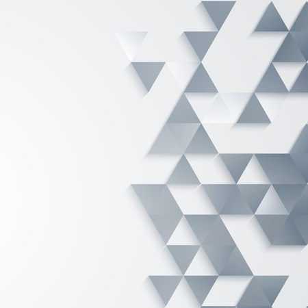 Illustration for Vector Abstract geometric background with triangle shapes - Royalty Free Image