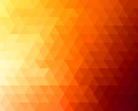 Ilustración de Abstract geometric background with orange and yellow triangles. Vector illustration. Summer sunny design - Imagen libre de derechos