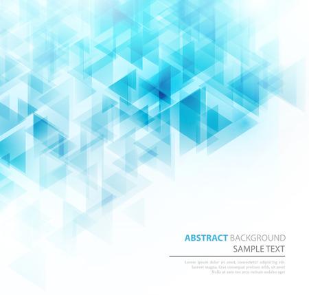 Illustration pour Blue shiny triangle shapes technical background.  - image libre de droit