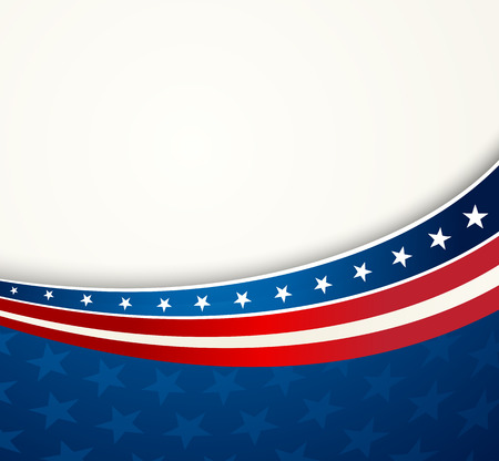 Illustration pour American Flag, Vector patriotic background for Independence Day, Memorial Day - image libre de droit