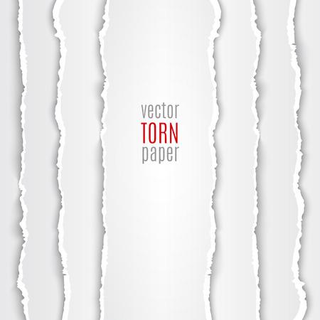 Illustration pour Vector illustration white torn paper. Template background - image libre de droit