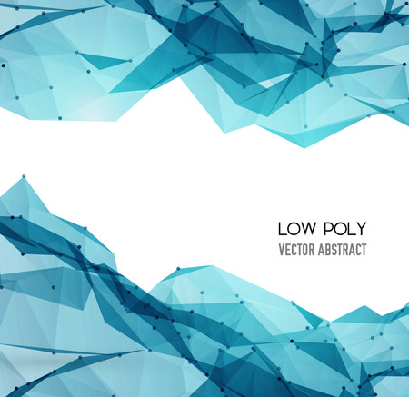 Illustration pour Vector Abstract Geometric Background. Triangular design.  - image libre de droit