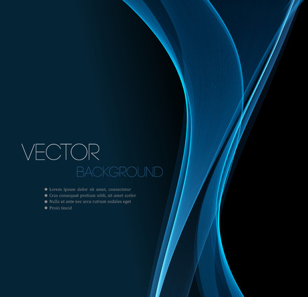 Ilustración de Blue Smooth wave stream line abstract header layout. Vector illustration - Imagen libre de derechos