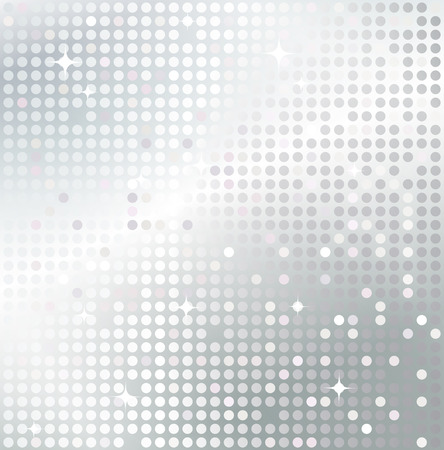 Illustration for Shiny background with silver sequins. Template for your design. - Royalty Free Image
