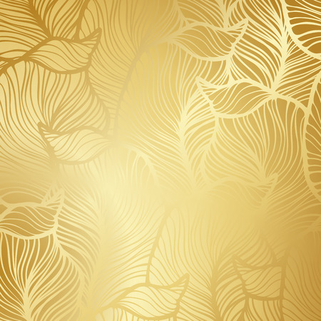 Ilustración de Luxury golden wallpaper. Vintage Floral pattern Vector background. - Imagen libre de derechos