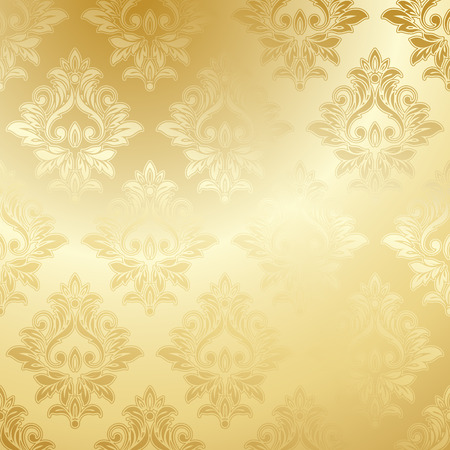 Illustration pour Luxury golden wallpaper. Vintage Floral pattern Vector background. - image libre de droit