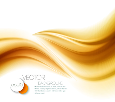 Illustration pour Beautiful Gold Satin. Drapery Background. Vector Illustration - image libre de droit