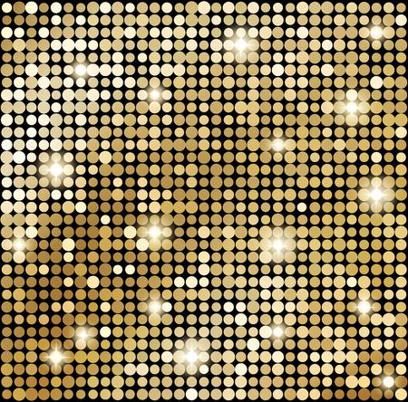 Illustration for Vector Abstract gold mosaic background. Disco style - Royalty Free Image