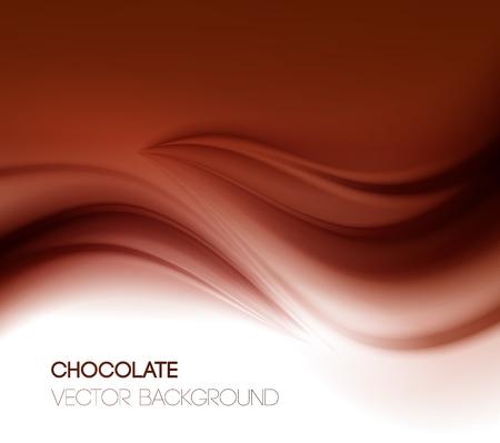 Ilustración de Abstract chocolate background, brown abstract satin. Vector illustration - Imagen libre de derechos