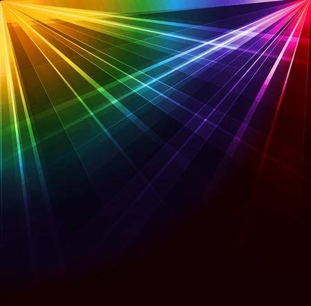 Illustration pour Colorful Spotlight background. Vector illustration. Neon or laser light - image libre de droit