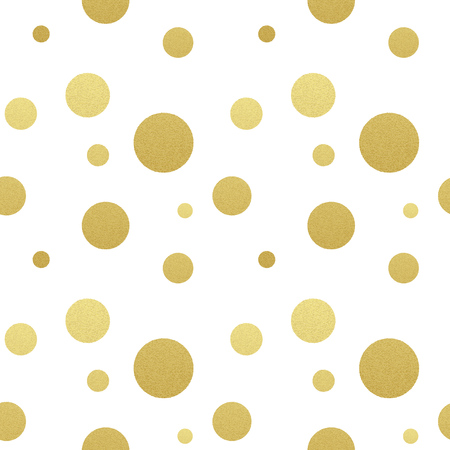 Illustration pour Classic dotted seamless gold glitter pattern.  Polka dot ornate - image libre de droit