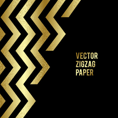 Illustration for Abstract template background with gold zigzag shapes. Vector illustration EPS10 - Royalty Free Image