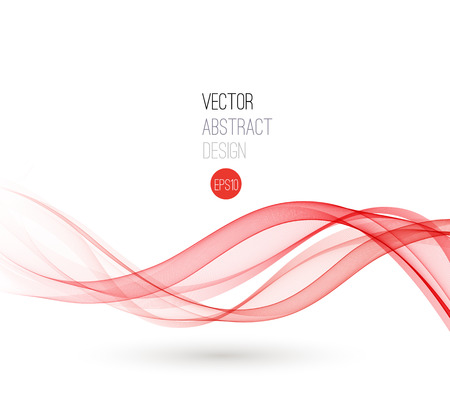 Ilustración de Beautiful red fractal. Waved Background. Vector Illustration - Imagen libre de derechos
