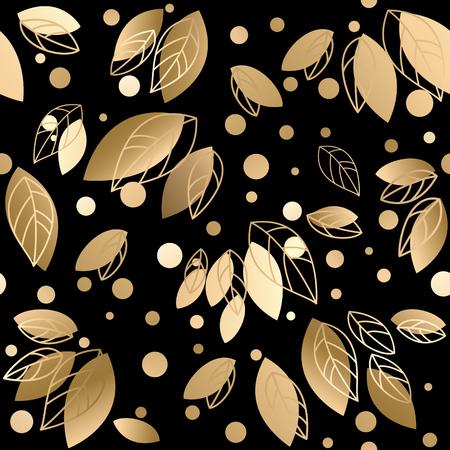 Illustration pour Fall banner with Gold leaves. Vector illustration  - image libre de droit