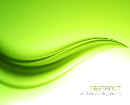 Ilustración de Beautiful Green Satin. Drapery Background, Vector Illustration - Imagen libre de derechos