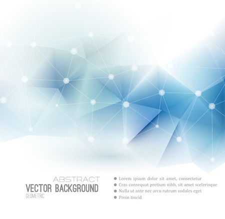 Illustration pour Vector Abstract science Background. Polygonal geometric design. EPS 10 - image libre de droit