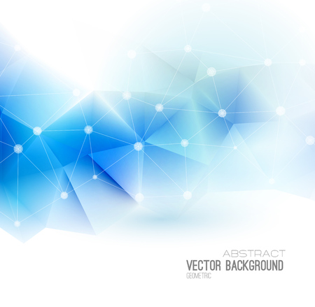 Photo pour Vector Abstract science Background. Polygonal geometric design. EPS 10 - image libre de droit