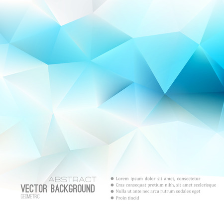 Foto per Vector Abstract science Background. Polygonal geometric design. EPS 10 - Immagine Royalty Free