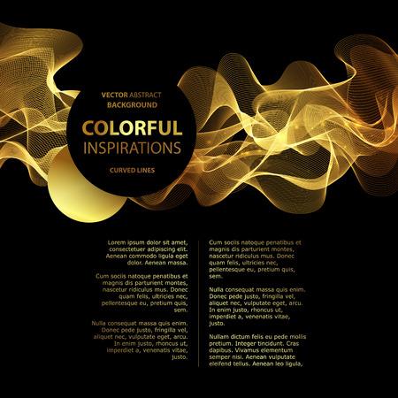 Ilustración de Abstract gold luxury wave layout background. Vector illustration - Imagen libre de derechos