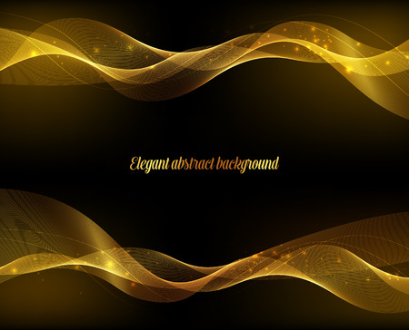 Abstract gold luxury wave layout background. Vector illustration