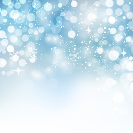 Illustration for Vector illustration. Abstract Christmas snowflakes background. Blue color - Royalty Free Image