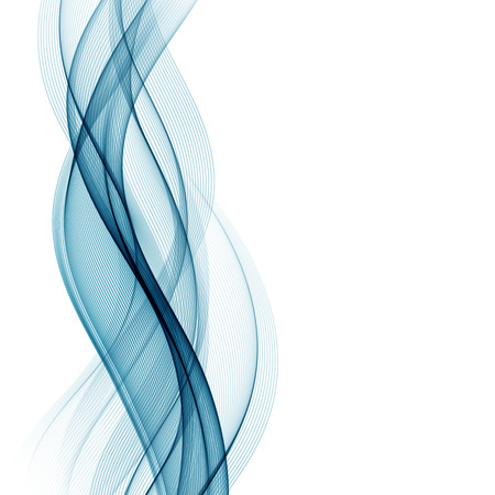 Illustration pour Abstract smooth color wave vector. Curve flow blue motion illustration - image libre de droit
