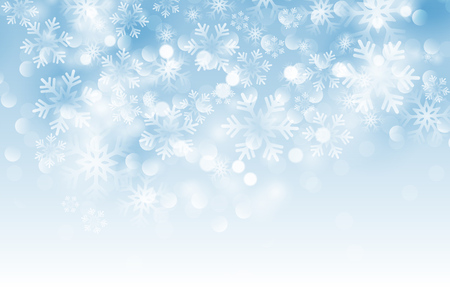 Illustration pour Winter card with snowflakes. Vector illustration. Holiday christmas backdrop - image libre de droit