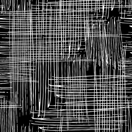 Illustration pour Vector seamless grunge texture of the intersecting lines. - image libre de droit