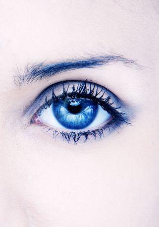 Foto de human macro beauty eye in blue - Imagen libre de derechos