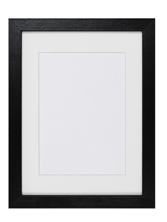 Photo for wood Picture Frame isolated - Royalty Free Image