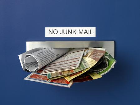 Foto de Junk Mail Letterbox - Imagen libre de derechos