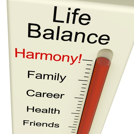 Photo for Life Balance Harmony Meter Shows Lifestyle And Jobs Desire - Royalty Free Image