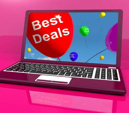 Best Deals Balloons On Computer Represents Discounts Online