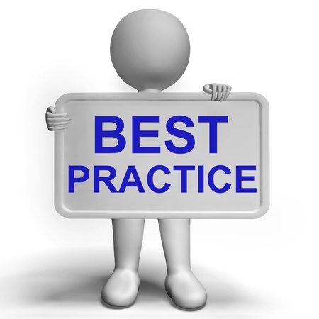 Photo for Best Practice Sign Shows Most Efficient Procedures - Royalty Free Image