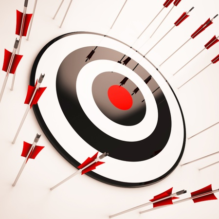 Photo for Off Target Showing Aiming Mistake Lacking Confidence - Royalty Free Image