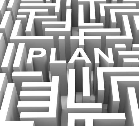 Photo pour Plan Word Shows Guidance Strategy Or Business Planning - image libre de droit