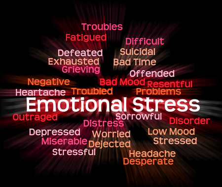 Emotional Stress Meaning Heart Rending And Wordcloud