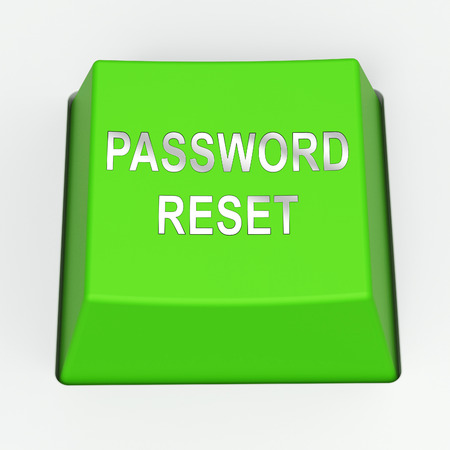 Foto de Password Reset Email Interface Update 3d Rendering Shows Invalid Login Problem Message To Re-Set And Update - Imagen libre de derechos