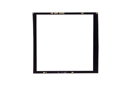 Photo for film borders, Blank medium format (6x6) color film frame - Royalty Free Image