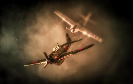 Foto de Aerial combat based on attack on Pearl Harbor | US vs. Japan - Imagen libre de derechos
