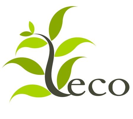 Illustration pour Environmental eco icon with plant. - image libre de droit