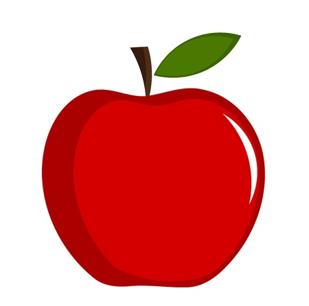 Illustration for Red apple - illustration - Royalty Free Image