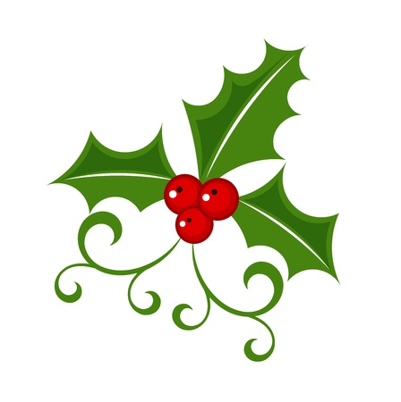 Illustration for Holly berry - Christmas symbol - Royalty Free Image