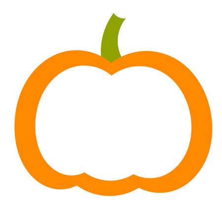 Illustration pour Pumpkin shape label. Vector illustration - image libre de droit