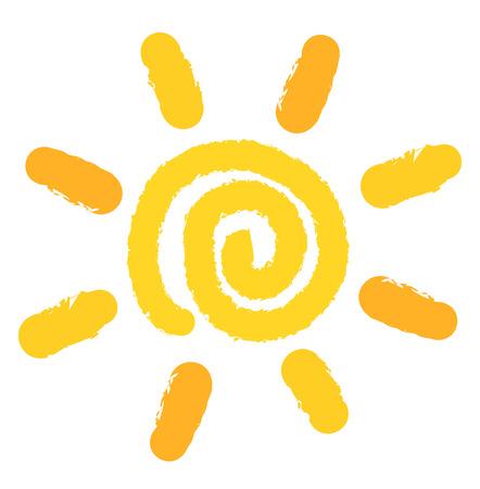 Illustration pour Painting of swirl sun symbol. Vector illustration - image libre de droit