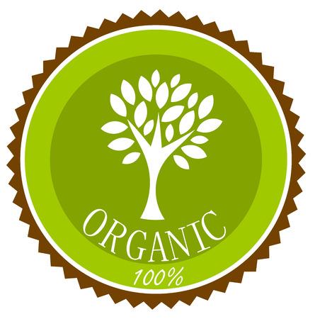 Ilustración de Organic label or emblem. Vector illustration - Imagen libre de derechos