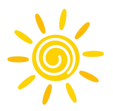 Ilustración de Yellow Sun icon.  - Imagen libre de derechos