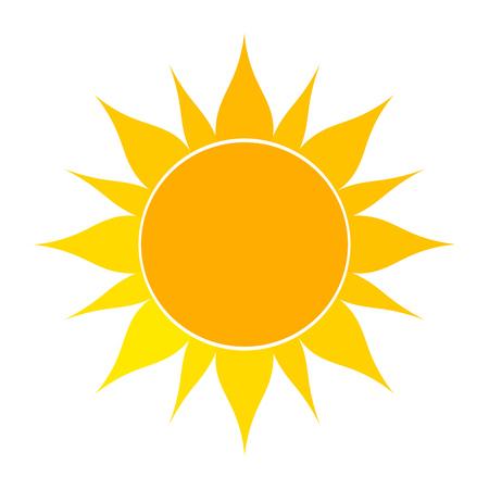 Ilustración de Flat sun icon. Vector illustration on white background - Imagen libre de derechos
