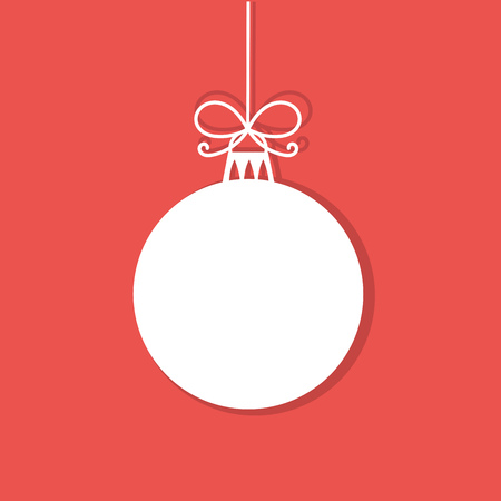 Illustration for Christmas bauble white tag. Vector illustration - Royalty Free Image